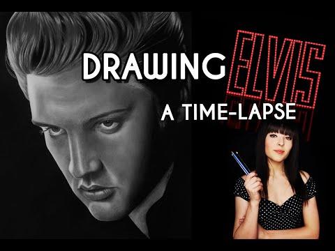 Pencil Portrait of Elvis Presley - Time-lapse