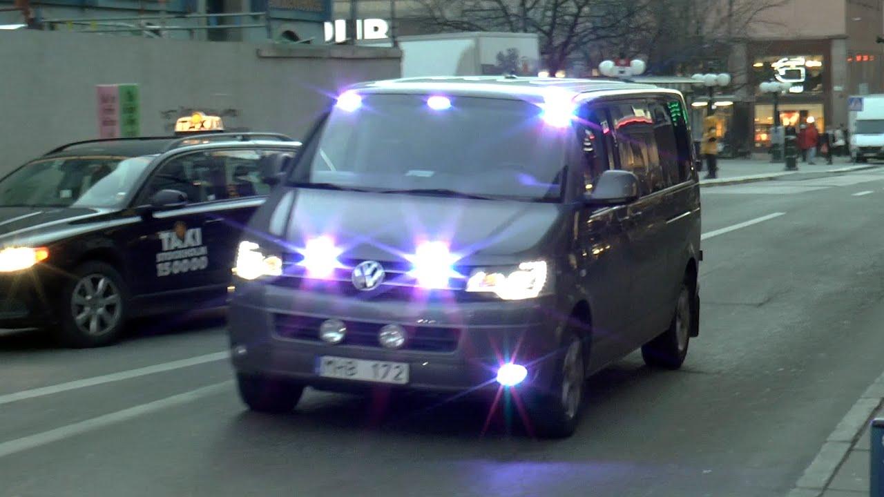 police unmarked vw t5 stockholm se 122014 youtube