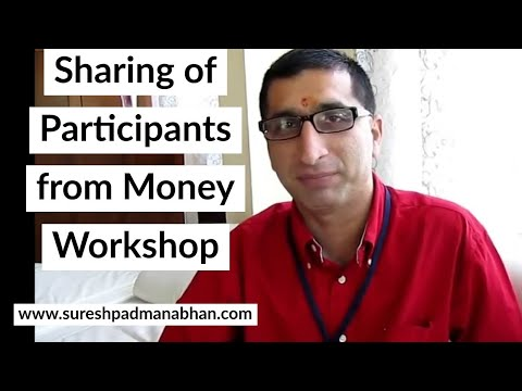 Experience from Money Workshop by Suresh Padmanabhan