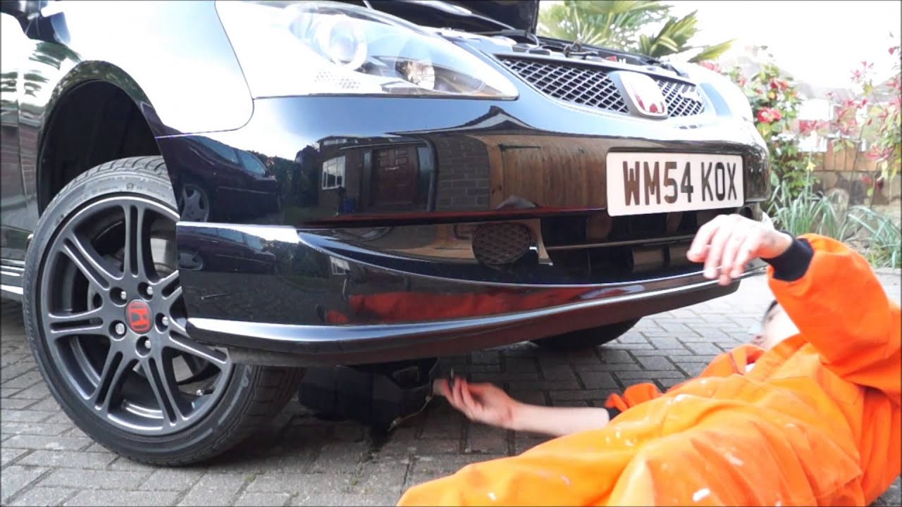 Honda Civic Type R Oil Change 2013 How To Youtube