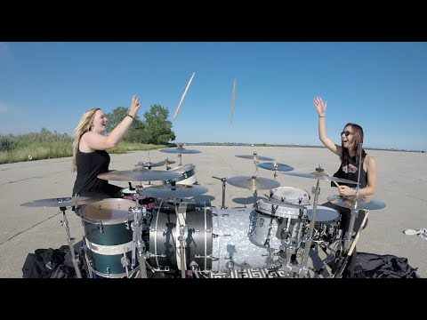 Nelly - Hot In Herre - Dual Drum Cover - 2 DRUMMERS!