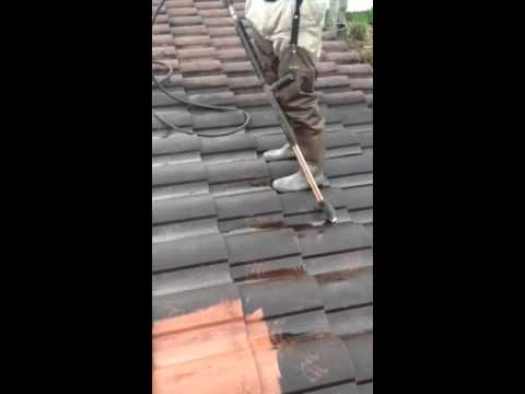 how to walk on and clean a tile roof
