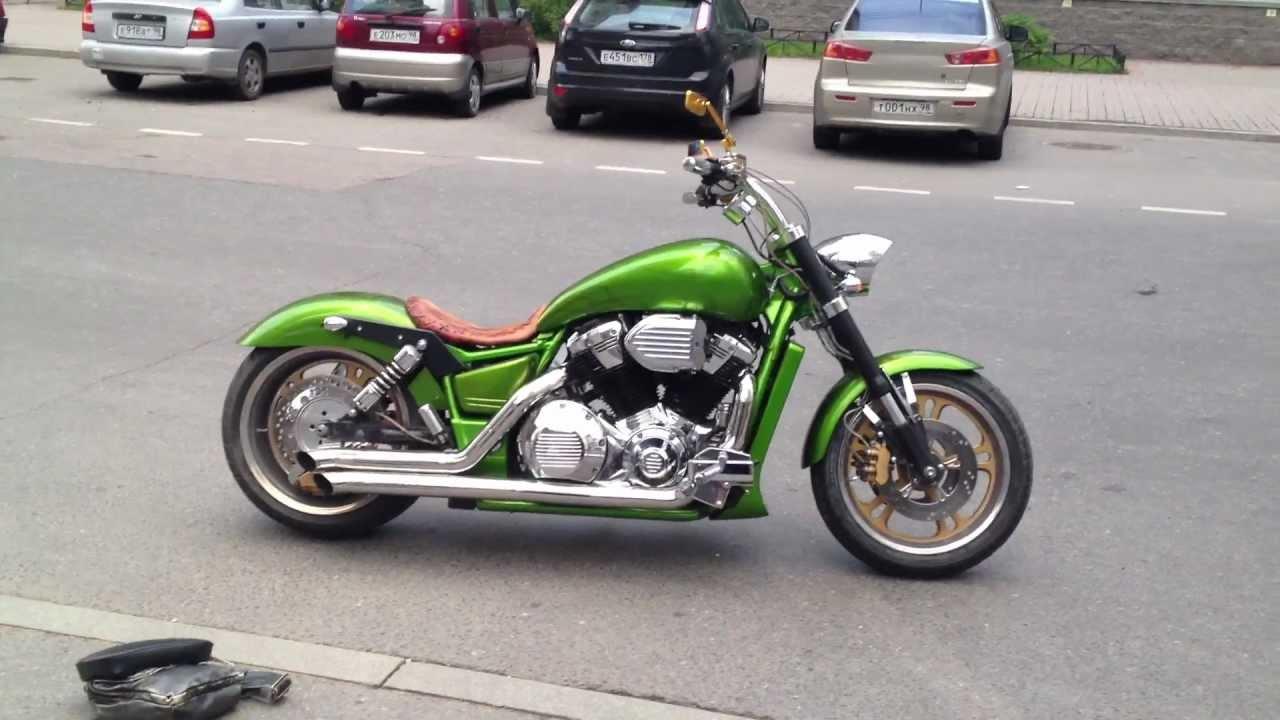 honda vtx 1800 green custom [ 1280 x 720 Pixel ]