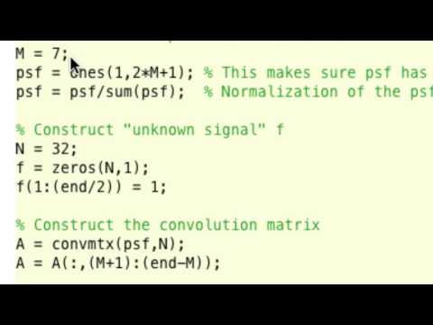 Inverse Problems Lecture 3/2017: deconvolution with