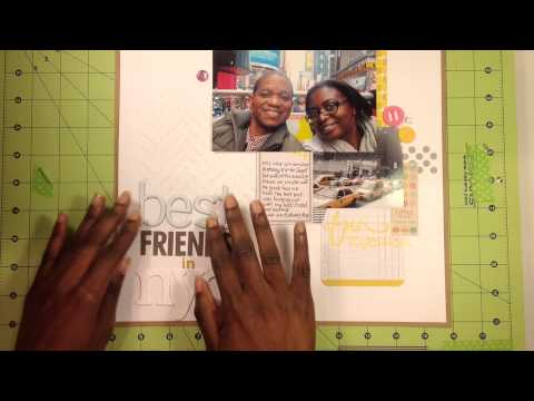 Saturday Morning Share (SMS) # 3: Scrapbook Layout - NYC