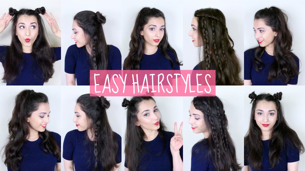 youtube hair up styles easy half up half hairstyles 9198 | maxresdefault