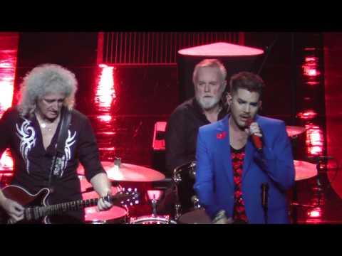 Queen+Adam Lambert 7/23/17: 12 - Somebody to Love (broken guitar string)- Uncasville, CT