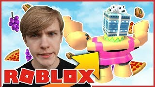 RUNS FROM A GIANT! -Danish Roblox: Eat or Die