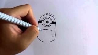 วาดการ์ตูนกันเถอะ สอนวาดการ์ตูน Carl กล้วยหอม มินเนี่ยน ง่ายๆ หัดวาดตามได้