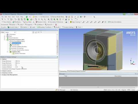 Acoustics analysis of a speaker using FEA tools from ANSYS