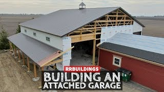 How to Build a Garage Addition 18: Installing Porch Roof Steel, and connection Details