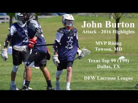 John Burton Class of 2020 Lacrosse Highlights  2016