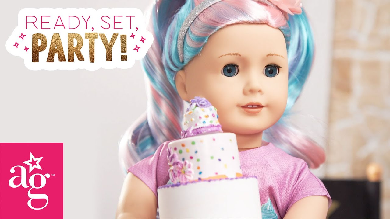 Super Surprise Birthday Party By The Glam Fam! | Ready, Set, Prep! Stop Motion | American Girl