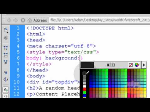 HTML5 Fixed Header and Footer Div Web Page Layout Creation Tutorial