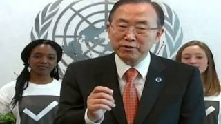 United Nations Secretary-General invites you to Mark A Difference and vote on the MY World survey