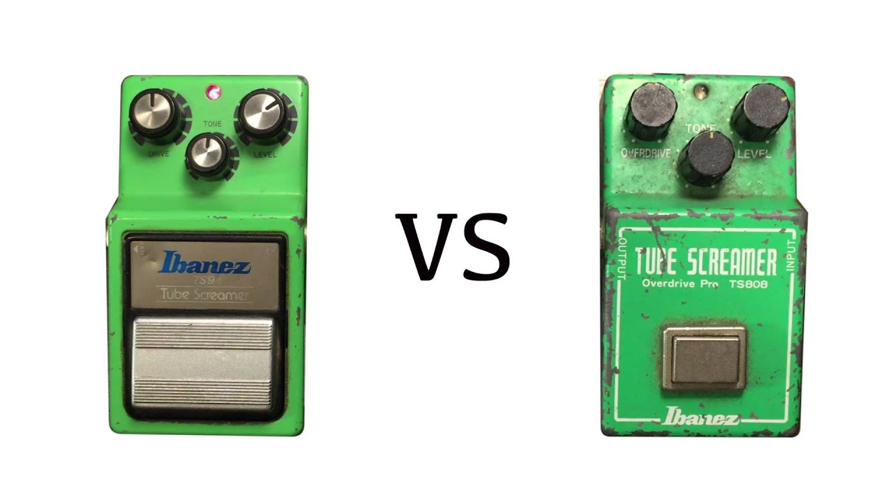 ibanez tube screamer 1983 ts9 vs 1981 ts 808 youtube