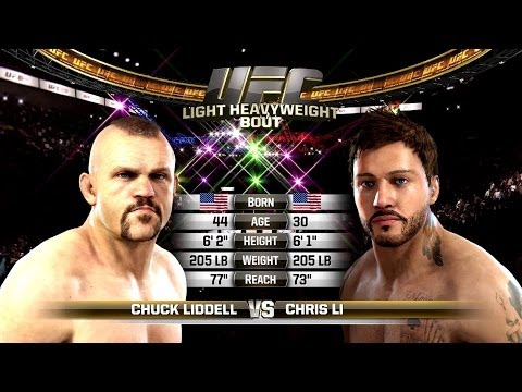 EA Sports UFC - Chuck Liddell VS Chris Li (Created Character)