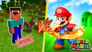 Noob vs minecraft - o mario bros matou o noob!?