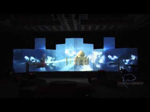 3D Projection Mapping at the Launch Event of One World, Chennai