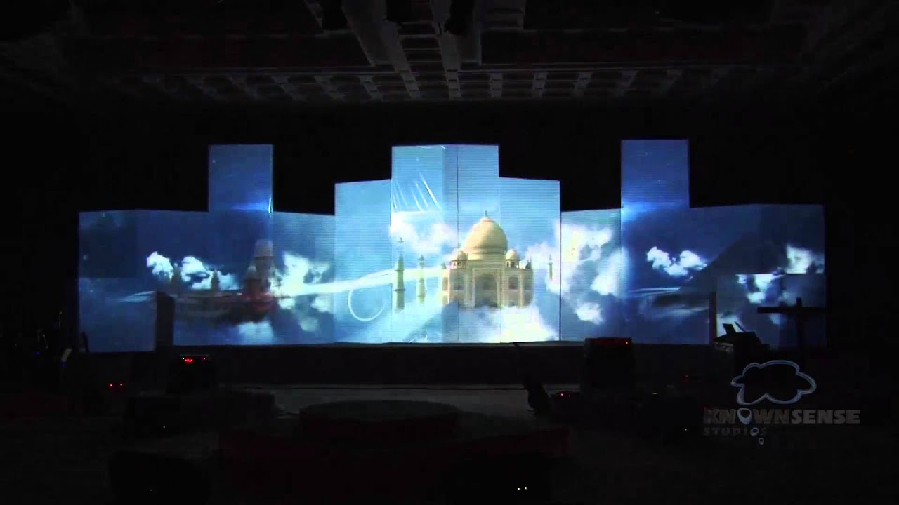 3d Projection Mapping At The Launch Event Of One World