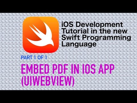 Embed PDF files in iOS Apps (Swift 3 Xcode 8 iOS 10) - YouTube