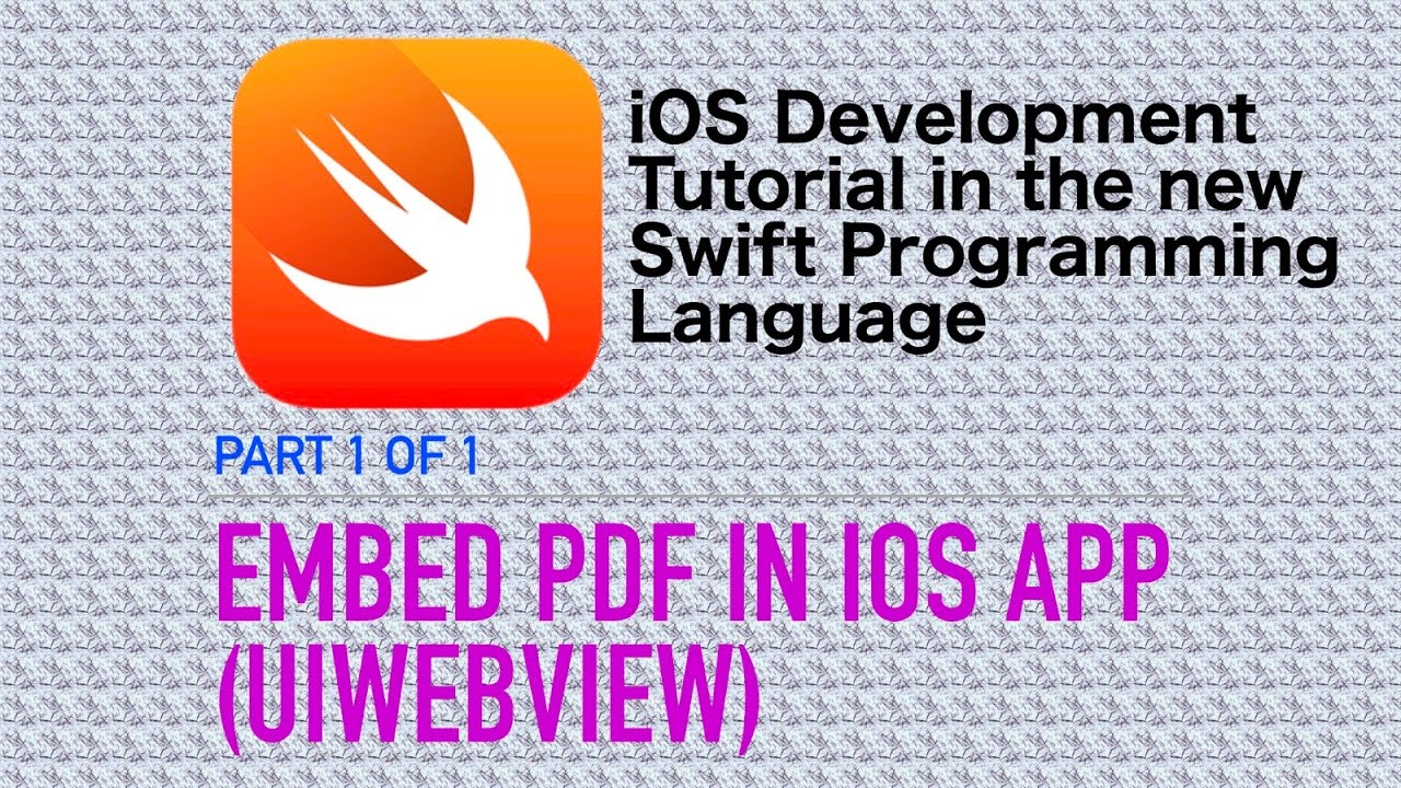 Embed PDF files in iOS Apps (Swift 3 Xcode 8 iOS 10)