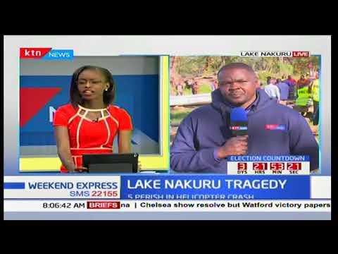 Kenya Navy Divers resume recovery process of Lake Nakuru Chopper crash