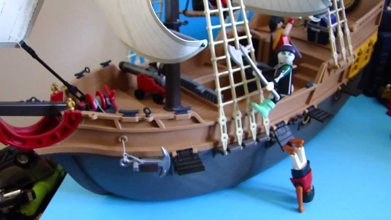 playmobil pirates ship new youtube. Black Bedroom Furniture Sets. Home Design Ideas