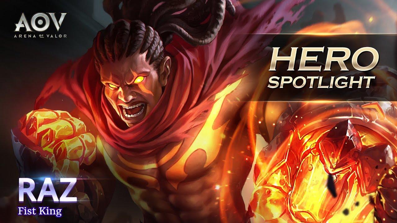 Raz Hero Spotlight Garena Aov Arena Of Valor