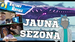 FORTNITE JAUNĀ SEZONA IR NICE!!! 3 uzvaras feat. LECKO