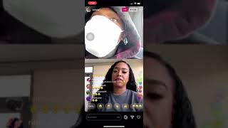 DaBaby on live with B Simone‼️ Calls her BAE👀