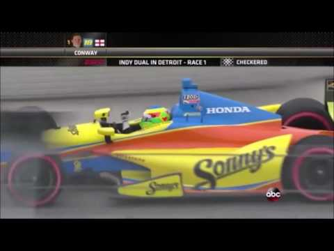 All of Mike Conway's wins in Indycar