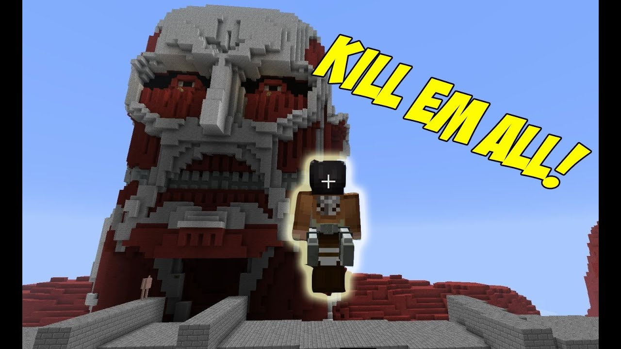 attack on titan minecraft mod youtube