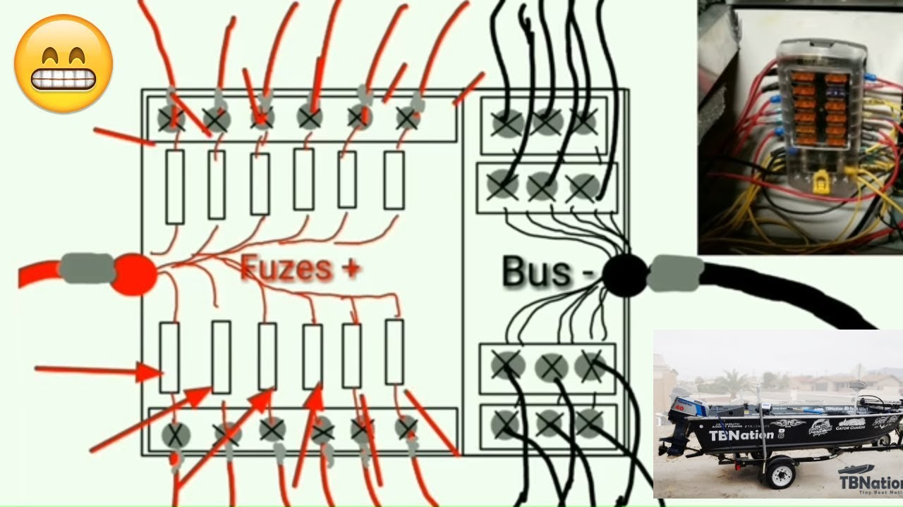 [WLLP_2054]   SUPER EASY Boat Wiring and Electrical Diagrams - step by step Tutorial -  YouTube | Sylvan Boat Fuse Box |  | YouTube