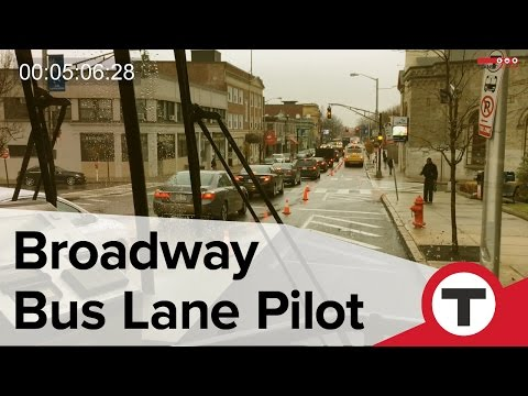 Ride on the Broadway Bus Lane Pilot