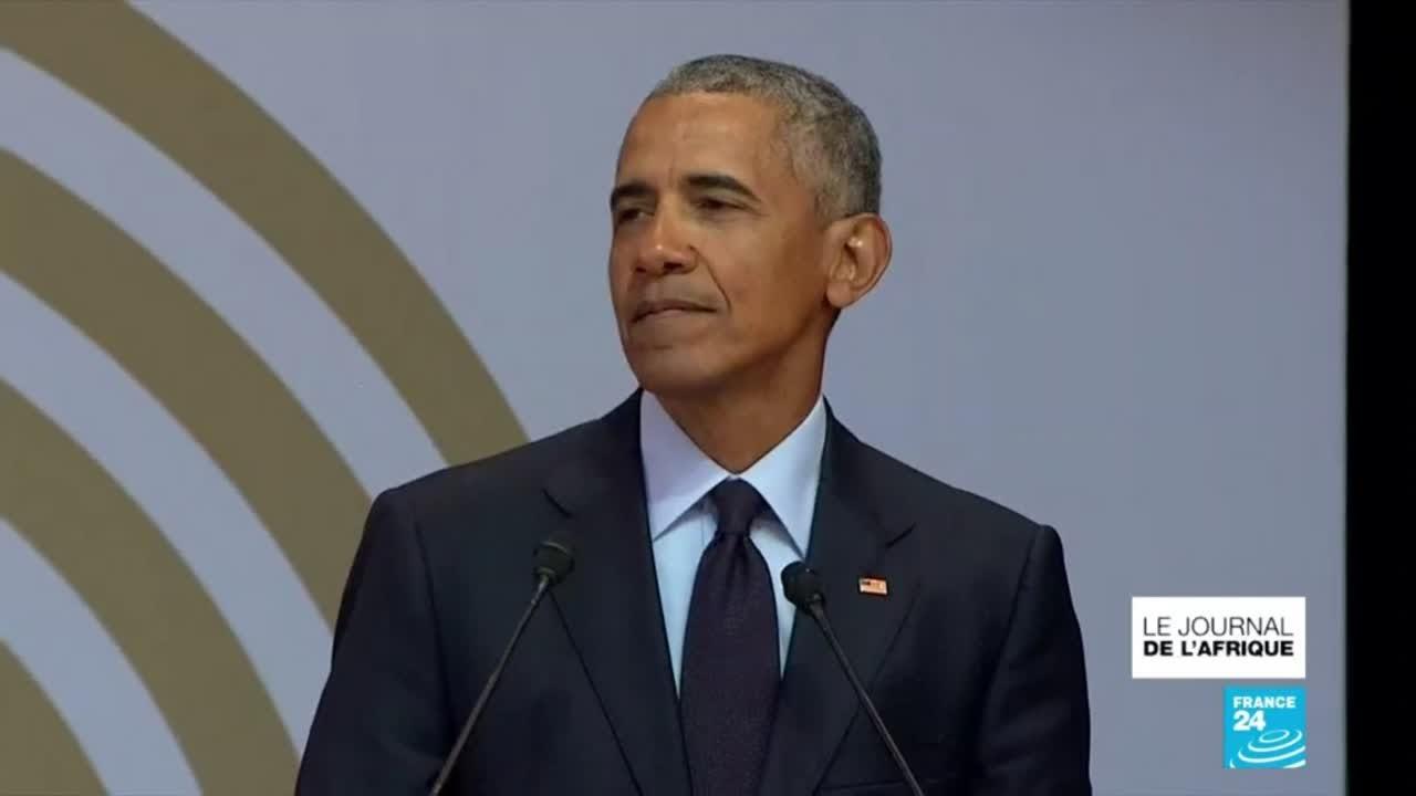 """100 ans de Nelson Mandela : Barack Obama rend homme au """"géant de l''histoire"""""""