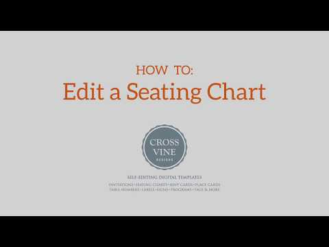 How To Edit A Seating Chart Printable Template from Crossvine Designs