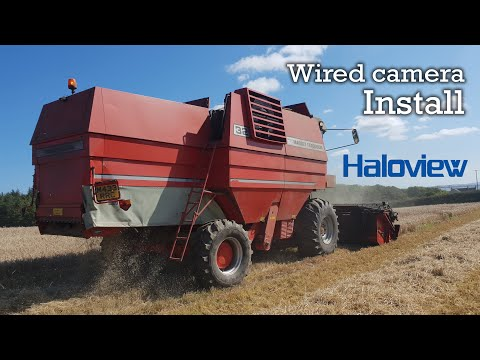 Haloview Wired Camera Install On Combine Harvester