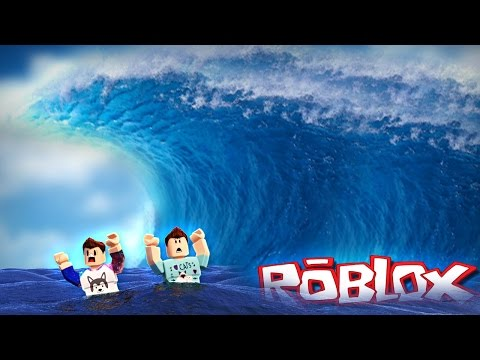 SURVIVING A TIDAL WAVE IN ROBLOX