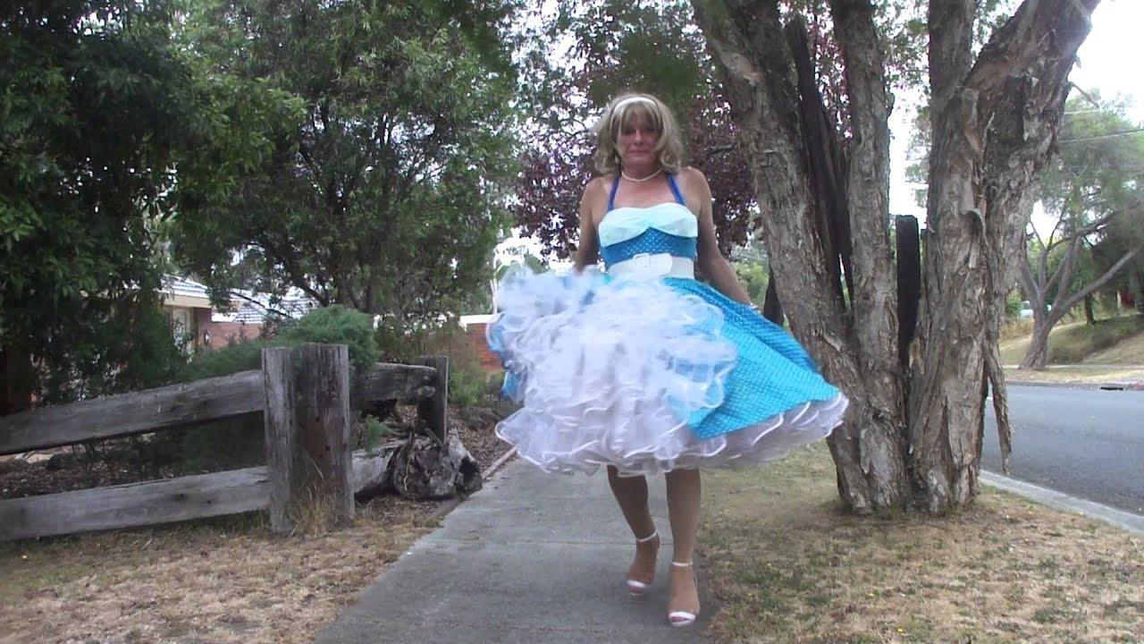 00252 Petticoats on the street II - YouTube