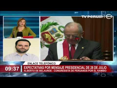 """Congresista Alberto de Belaunde: """"Vamos a tener un mensaje presidencial realista"""""""