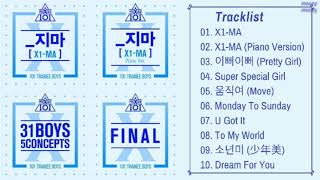 [ALL SONGS/FULL ALBUM] PRODUCE X 101 | X1-MA, CONCEPT, FINAL SONG