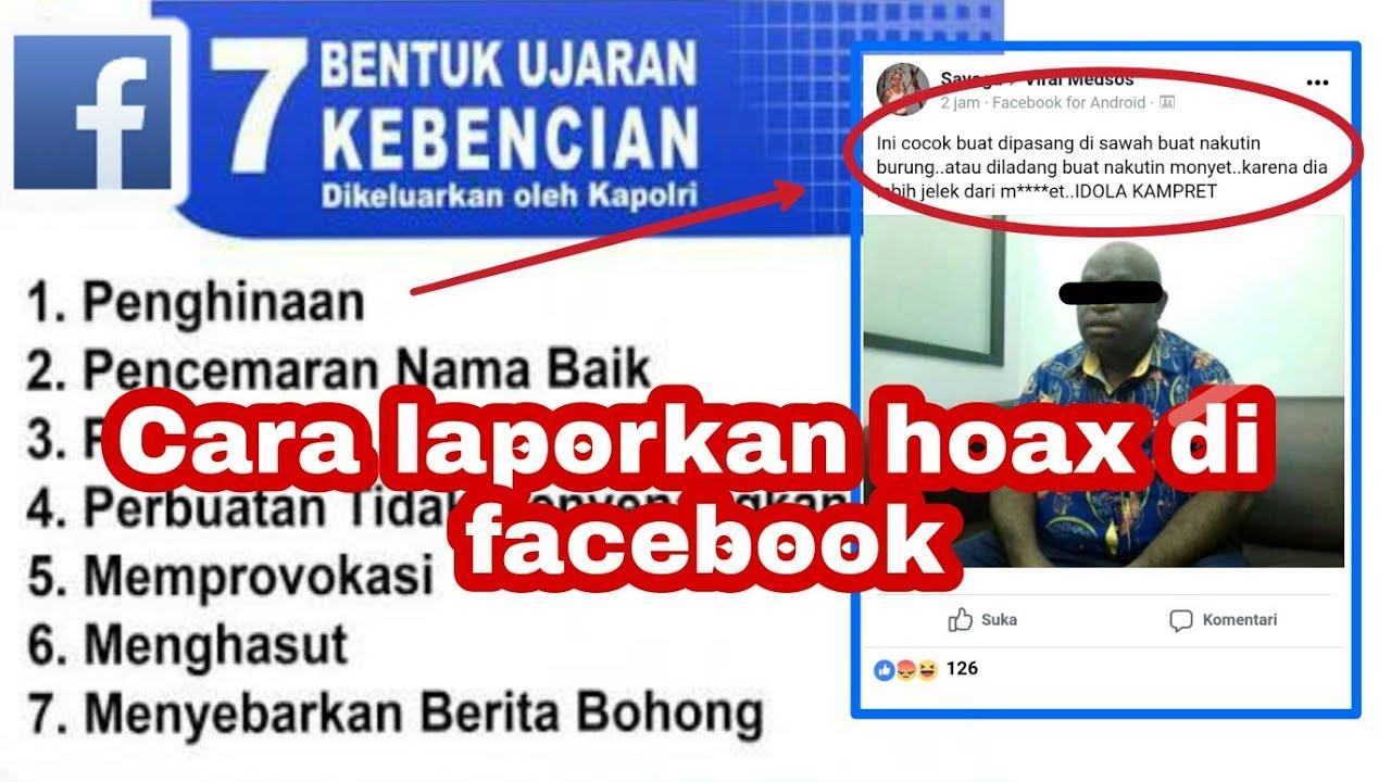 cara melaporkan ujaran kebencian di facebook