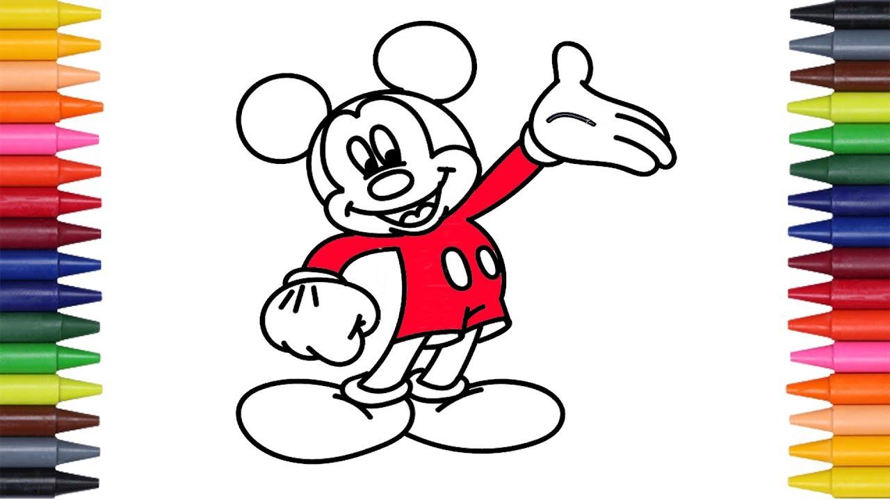 Dibuja Y Colorea A Mickey Mouse De Arco Iris