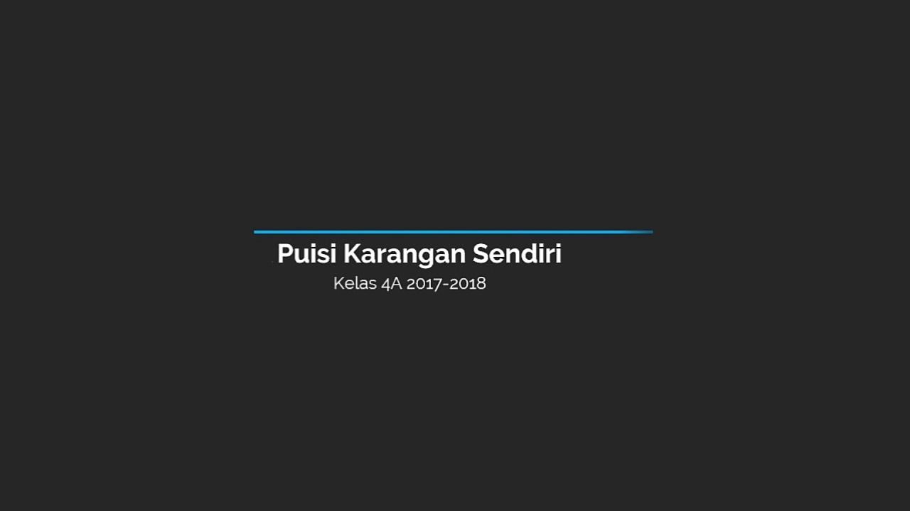 104 Puisi Cita Citaku Ingin Menjadi Guru Faiqotul Hikmah Sdn