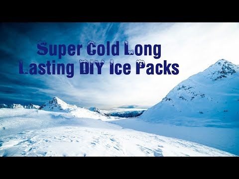Super Cold Long Lasting Cooler DIY Bait Cooler Ice Packs - Formula