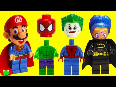 SUPERHERO Joker Prank Wrong Heads Magic Microwave Surprises