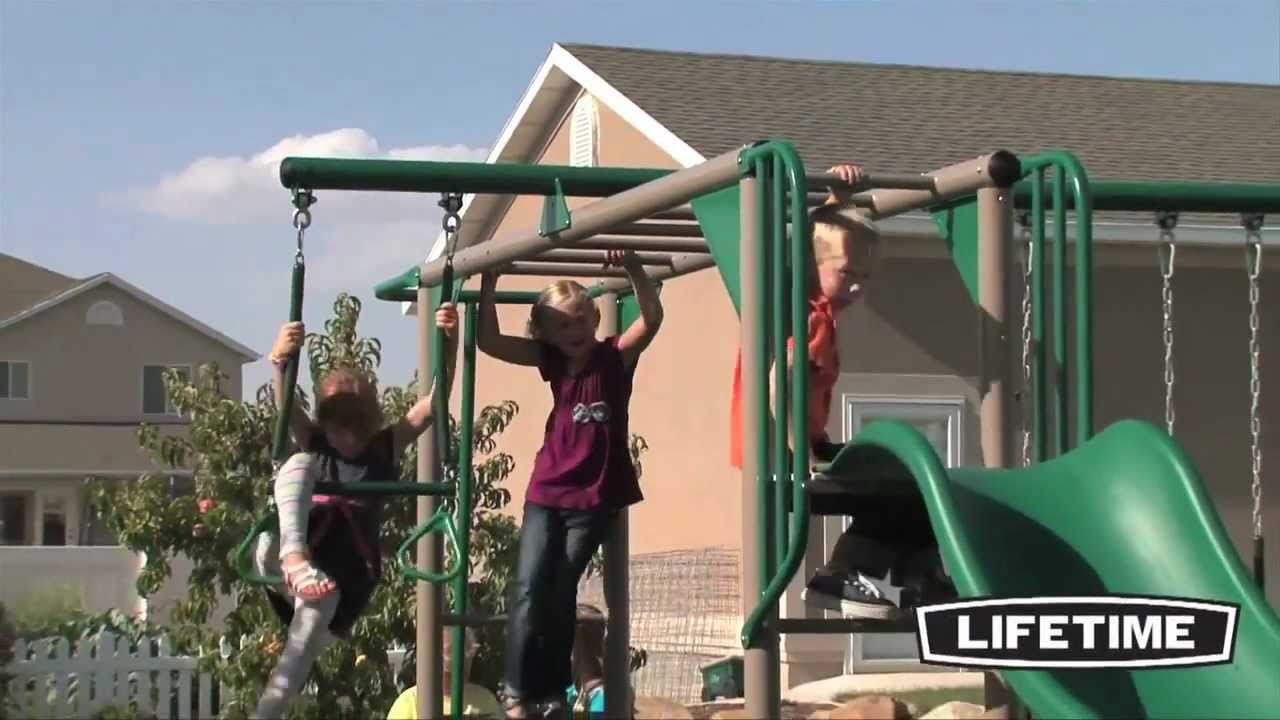 Lifetime Monkey Bar Adventure Swing Set Epic Swingsets Youtube