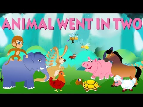 Animals Went in Two by Two | Nursery Rhymes For Toddlers | C