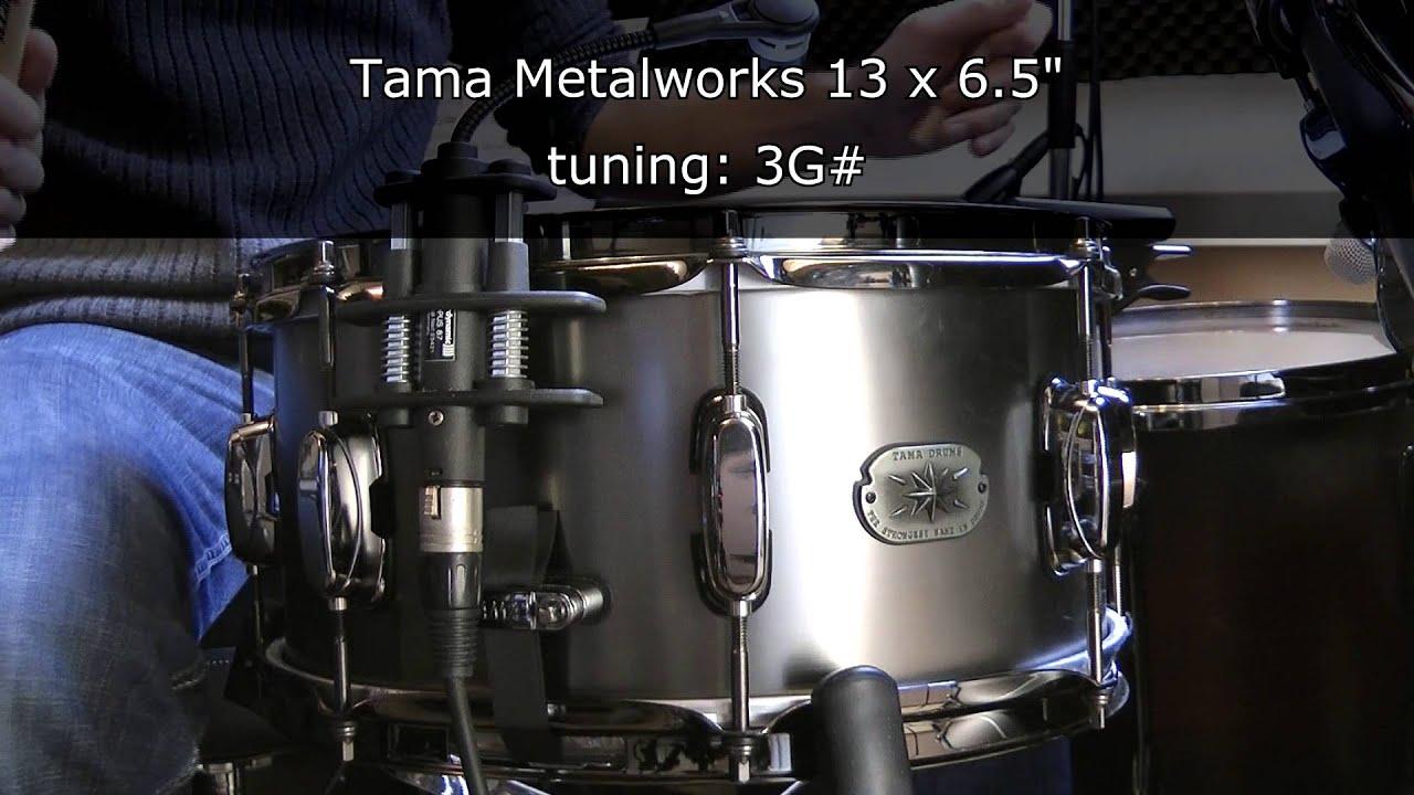 Tama Metalworks 13 X 6.5 Snare Drum Tuning Range - YouTube